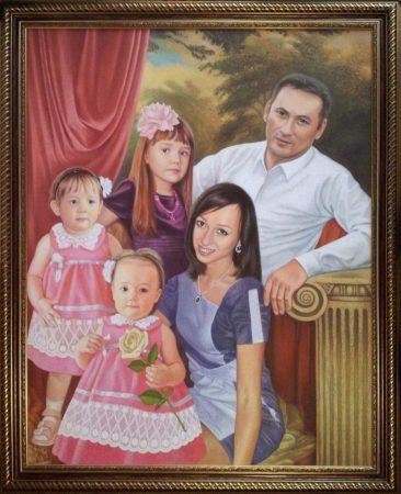 Семейный портрет маслом в Нур-султане — правильная традиция…