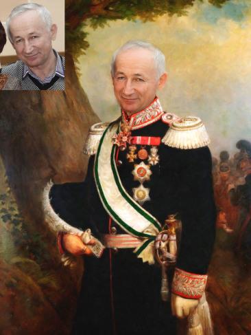 Где заказать исторический портрет по фото на холсте в Нур-султане?