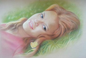 Настоящий портрет пастелью для любимой девушки в Нур-султане, просто и со вкусом!