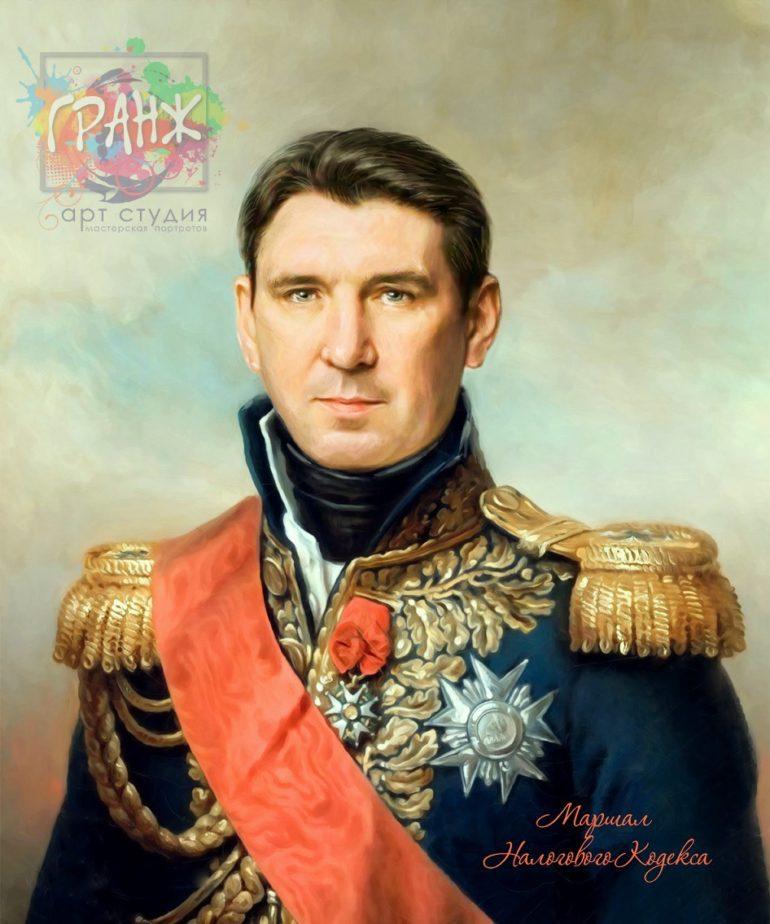 Портрет по фото на холсте в подарок мужчине на 23 февраля Нур-султан